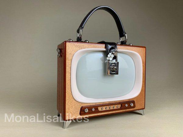 Dolce & Gabbana Retro TV Wooden Box Bag