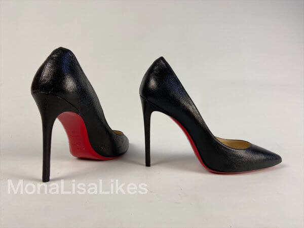 Christian Louboutin Black Laminated Leather Pigalle heels Shoes