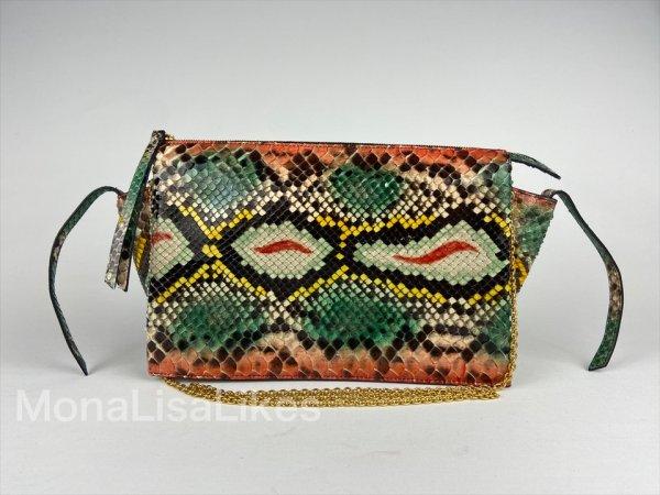 Celine trifold snakeskin python bag