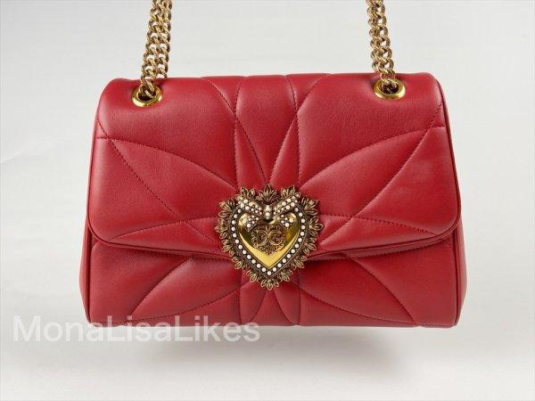 Dolce & Gabbana Red Leather Devotion Bag