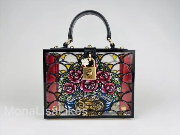 Dolce & Gabbana hand painted plexiglass box bag
