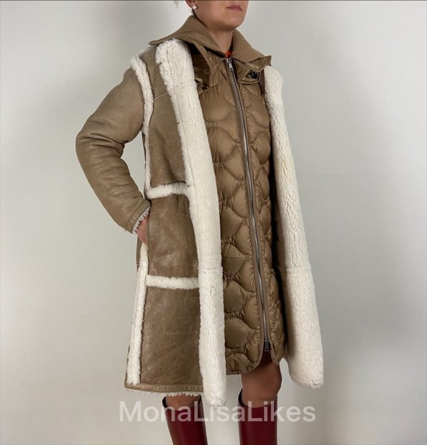 Moncler cotoneaster shearling puffer coat