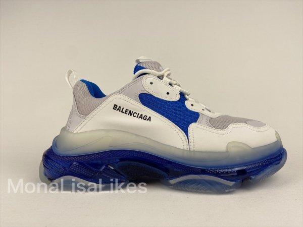 Balenciaga Triple S Blue White sneakers - Monalisalikes