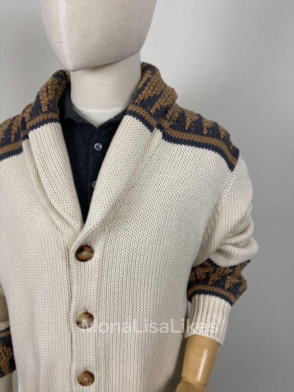 Brunello Cucinelli Shawl Collar Cotton Embroidered Cardigan Sweater Brunello Cucinelli Shawl Collar Cotton Embroidered Cardigan Sweater