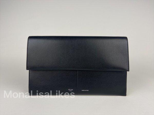 Celine black folded clutch