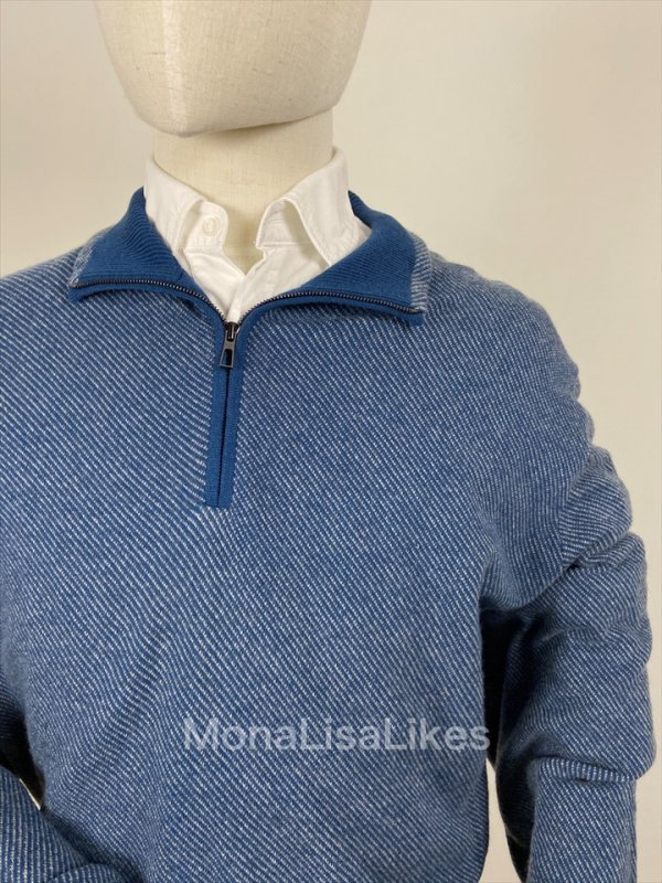 Loro Piana Cashmere Blue Roadster Sweater