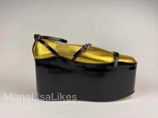 Gucci Hannerole 2 in 1 platform ballerina shoes