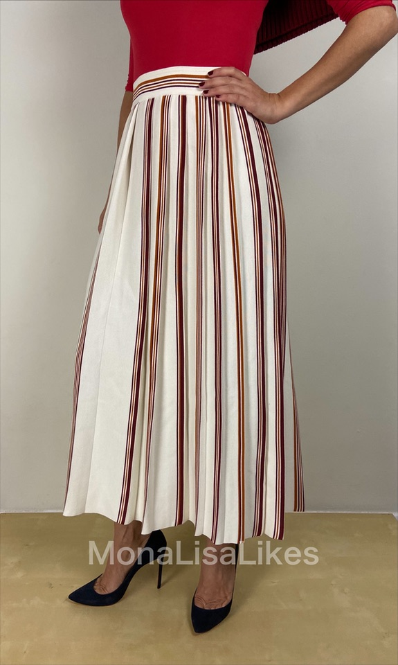 Loro Piana Palm Beach Pleated Skirt