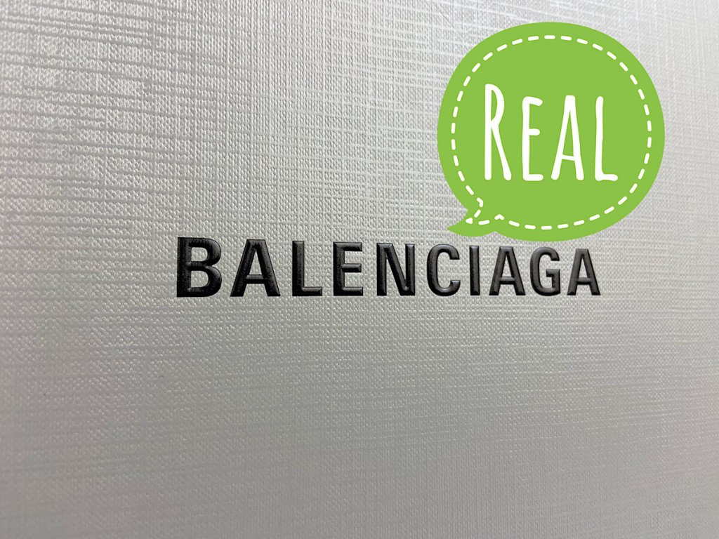 Gary box with logo from real Balenciaga sneakers