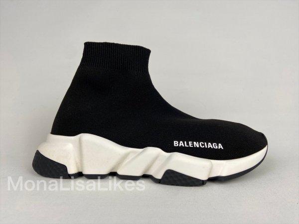 Balenciaga Speed Tranier Top Sock Runner Sneakers For Women In Black