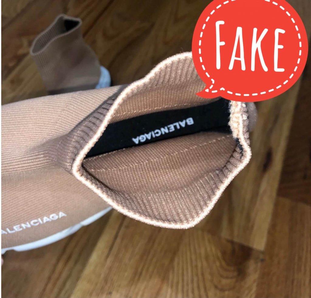 Fake Balenciaga Speed trainer sneakers in beige