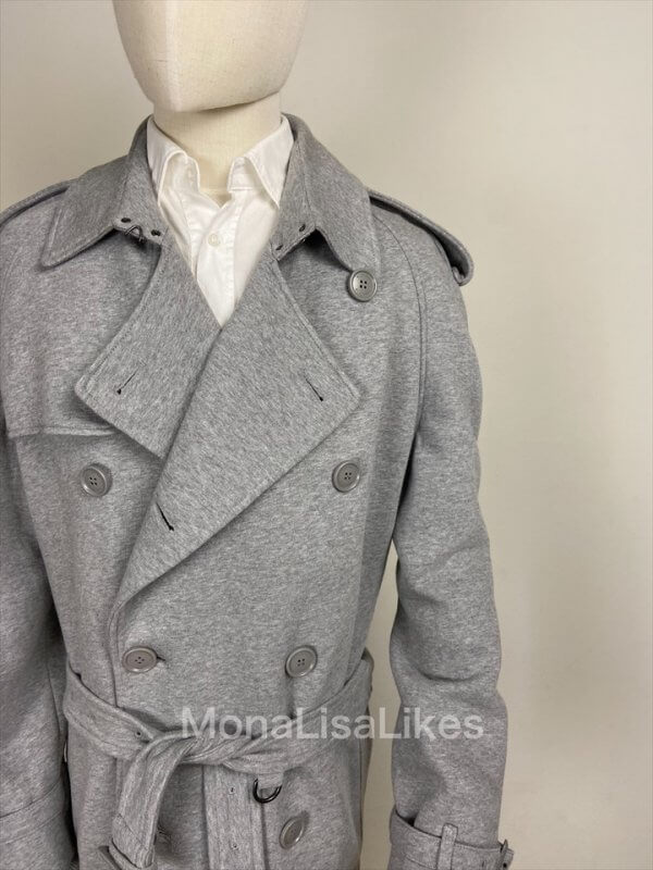 Burberry Westminster Jersey Gray Long Trench Coat