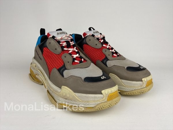 Balenciaga Triple S Multicolor Sneakers Track Shoes - MonaLisaLikes