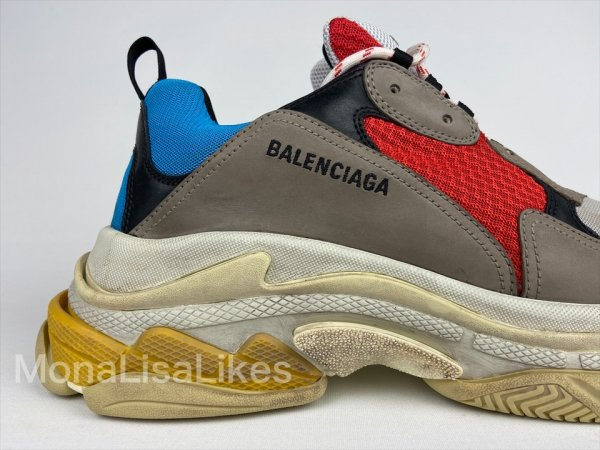Balenciaga Triple S Multicolor Sneakers Track Shoes Side view