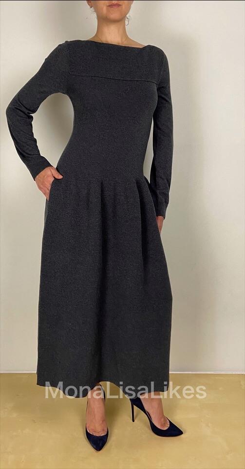 Loro Piana Cashmere Kensington Dress in Gray
